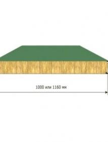 Стеновая трехслойная сэндвич панель с открытым креплением Z-LOCK МП ТСП–Z